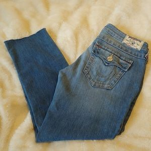 True religion jeans light to medium. Size 28